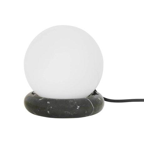 Ferm Living Lampe de table Rest verre de marbre noir Ø15x16cm