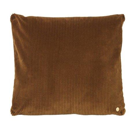 Ferm Living Coussin en velours côtelé textile doré 45x45cm