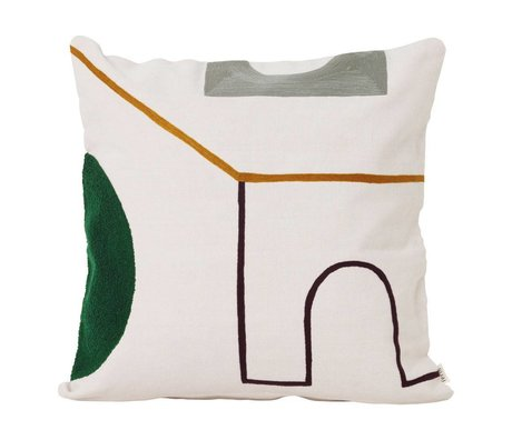 Ferm Living Coussin Mirage Gate multicolore textile 50x50cm