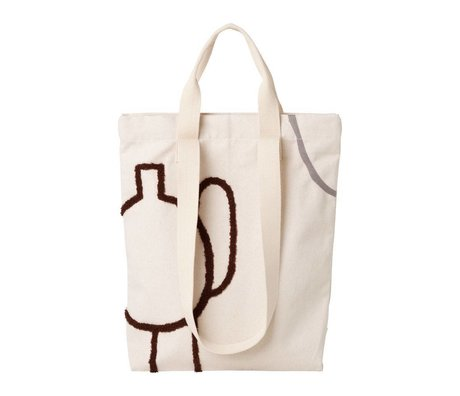 Ferm Living Carrying bag Mirage brown gray cotton 36x43cm