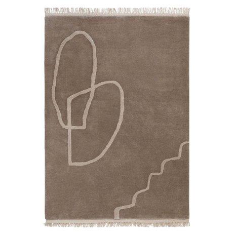 Ferm Living Tapis Desert Tufté textile marron sable 200x300cm