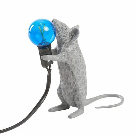 Seletti Table lamp mouse gray plastic 6x13,3x14,5cm