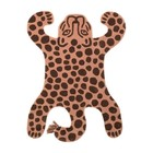 Ferm Living Tapis Safari LEOPARD en laine de coton marron 160x118x2cm