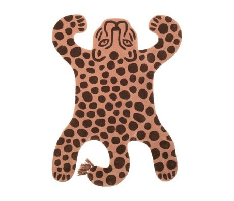 Ferm Living Rug Safari LEOPARD brown cotton wool 160x118x2cm