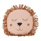 Ferm Living Cushion Safari Lion pink linen wool 35cm