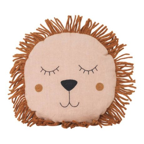 Ferm Living Kissen Safari Lion pink Leinenwolle 35cm