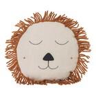Ferm Living Coussin Safari Lion en laine de lin naturelle 35cm