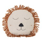 Ferm Living Cushion Safari Lion natural linen wool 35cm