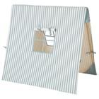 Ferm Living Tente Bleu Bois de Coton Rayé 100x100cm