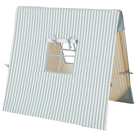 Ferm Living Tent Blue Thin Striped cotton wood 100x100cm