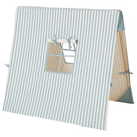 Ferm Living Zelt Blue Thin Striped Baumwollholz 100x100cm