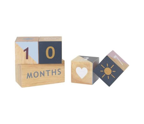 Ferm Living Wooden age blocks natural beech wood 5,8x11,5x17,5cm
