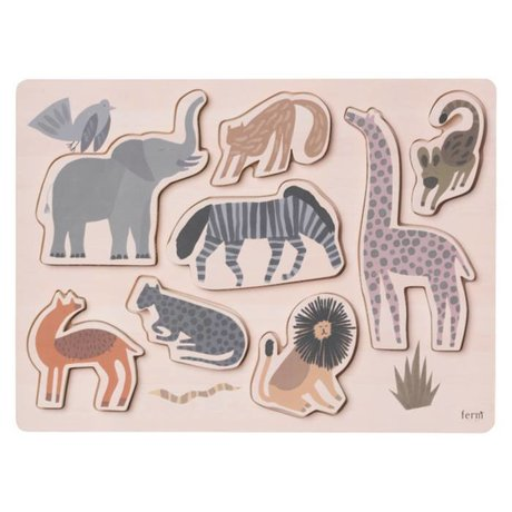 Ferm Living Puzzle Safari plywood 22x30x1,6cm