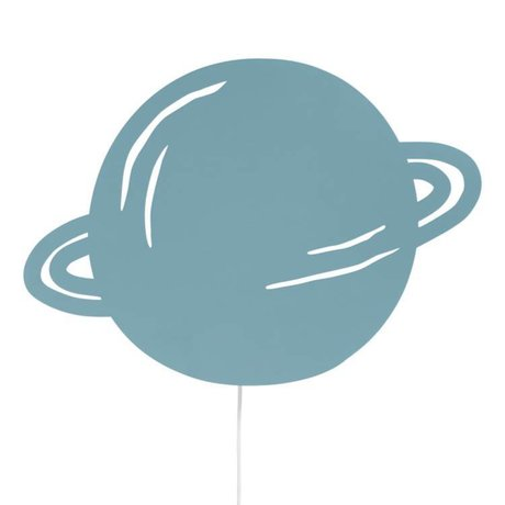 Ferm Living Wandlampe Planet staubige blaue Eiche 39x28cm