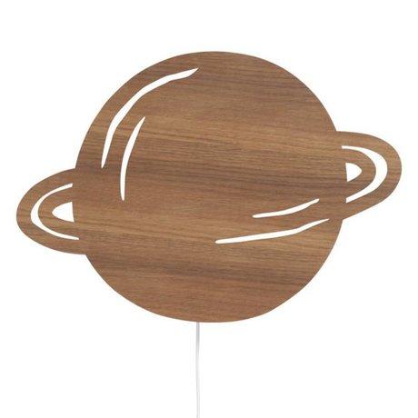 Ferm Living Wandleuchte Planet braun Eiche 39x28cm
