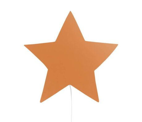 Ferm Living Wandlampe Star Senf Eiche 33x29,8x6,5cm