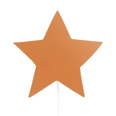 Ferm Living Wall lamp Star mustard oak 33x29,8x6,5cm