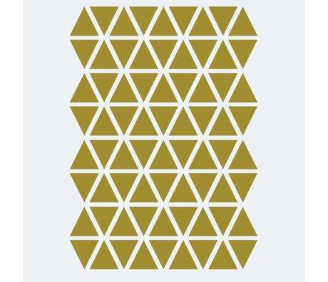Ferm Living Wandaufkleber Mini Dreiecke Gold 72 Stück