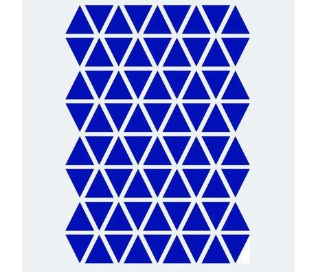 Ferm Living Wandaufkleber Mini Triangles blau 72 Stück