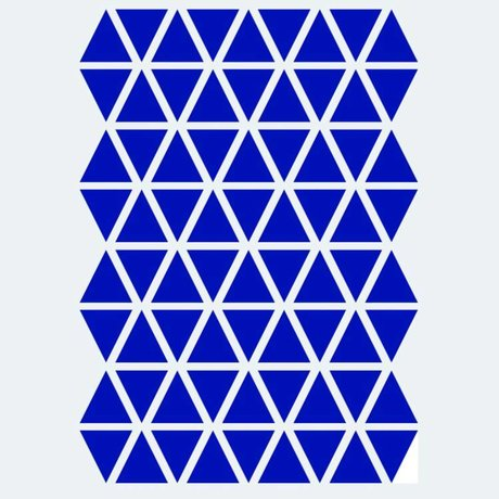 Ferm Living Wall sticker Mini Triangles blue 72 pieces