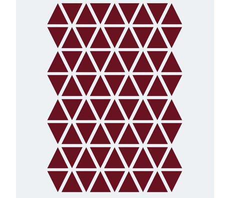 Ferm Living Wandaufkleber Mini Triangles rot 72 Stück