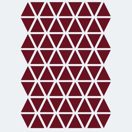 Ferm Living Sticker mural Mini Triangles rouge 72 pièces