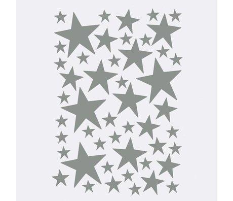 Ferm Living Wandsticker Mini Stars grau 49 Stück