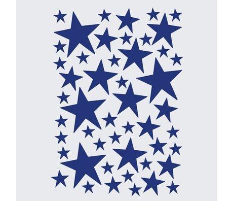 Ferm Living Wall sticker Mini Stars blue 49 Stück