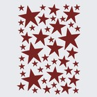Ferm Living Sticker mural Mini Stars rouge 49 pièces