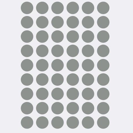 Ferm Living Wall sticker Mini Dots gray 54 pieces