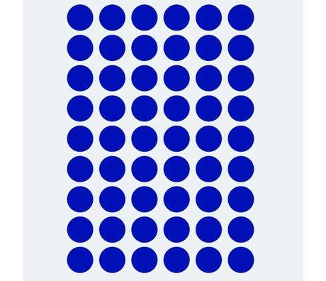 Ferm Living Wandaufkleber Mini Dots blau 54 Teile