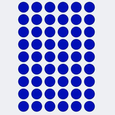 Ferm Living Sticker mural mini pois bleu 54 pièces