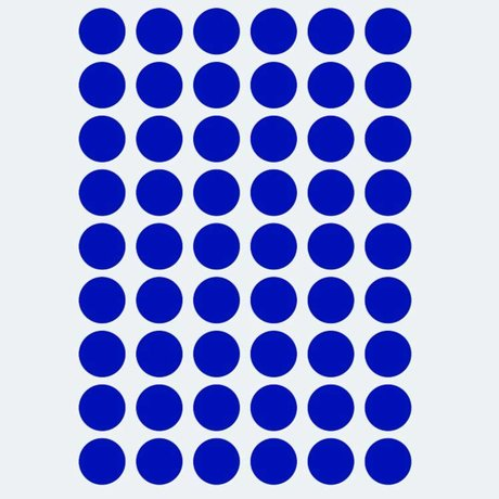 Ferm Living Wall sticker Mini Dots blue 54 pieces