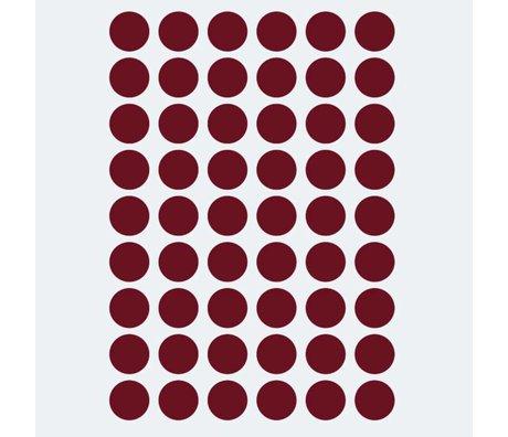 Ferm Living Sticker mural mini pois rouge 54 pièces