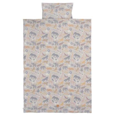 Ferm Living Enveloppe de couette Safari en coton adolescent 140x200 / 63x60cm en coton