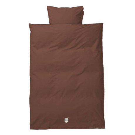 Ferm Living Duvet cover Hush Cognac baby cotton 70x100 / 46x40cm