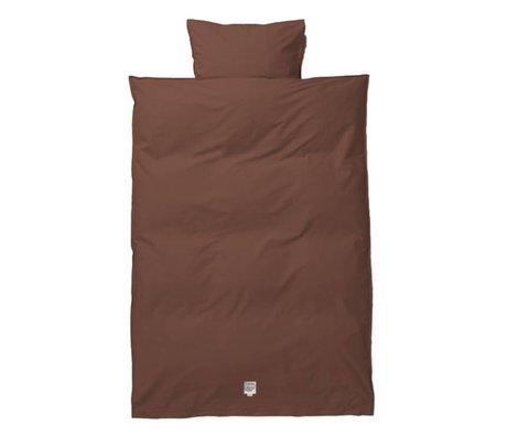 Ferm Living Duvet cover Hush Cognac junior cotton 100x140 / 46x40cm cotton