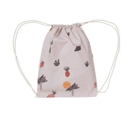 Ferm Living Gym bag Fruiticana cotton 28x36cm