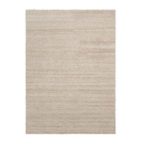 Ferm Living Teppich Schattenschleife beige Textil 140x200cm