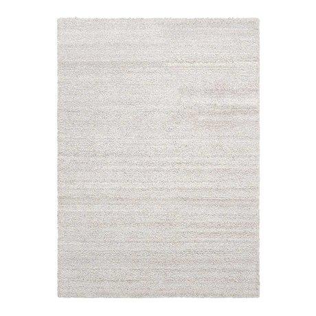 Ferm Living Boucle de tapis en textile blanc cassé 140x200cm