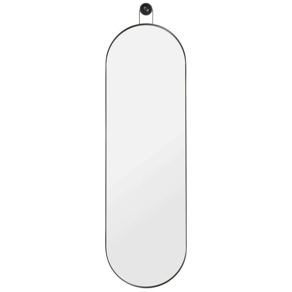 Spiegel Poise Oval Schwarz Metall Holz 283x26x989cm Leflivingde