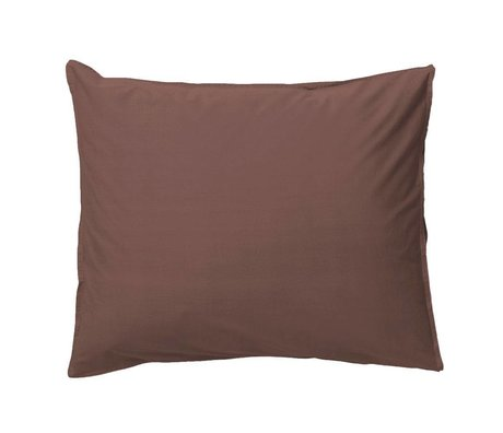 Ferm Living Pillowcase Hush cognac organic cotton 50x70cm