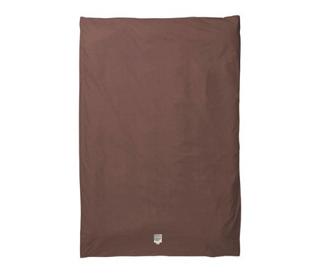Ferm Living Duvet cover Hush cognac organic cotton 140x200cm