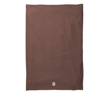 Ferm Living Duvet cover Hush cognac organic cotton 140x220cm