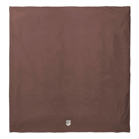 Ferm Living Housse de couette Hush en coton biologique cognac 200x200cm