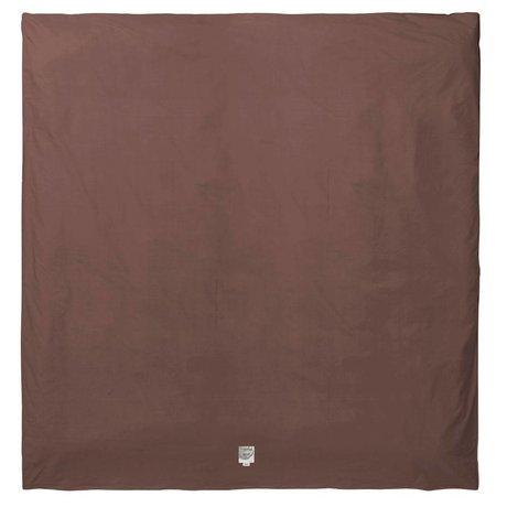 Ferm Living Housse de couette Hush cognac coton bio 220x220cm