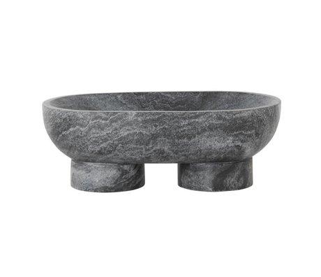 Ferm Living Dish Alza schwarzen Marmor 25x14x9cm