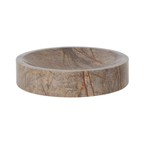 Ferm Living Schüssel Scape brauner Marmor Ø30x6,5cm