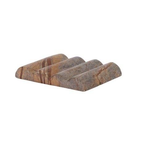 Ferm Living Porte-savon Bendum Marbre Marron 10,8x8,3x1,5cm