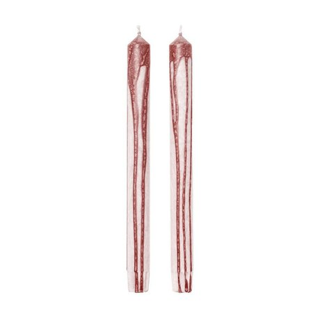 Ferm Living Kerzen Duo braun gebrochen weiß 2er Set